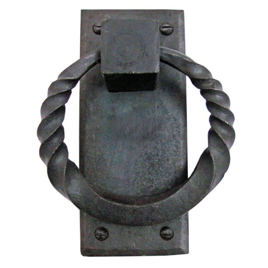 original_hand-forged-door-knocker-twisted-plate-handmade-iron