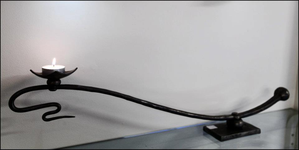 Long Mounted Candle Holder