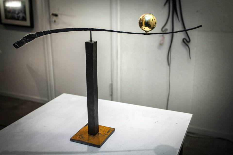 kinetic balanced sculpture