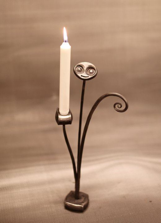 Smiling Candle Holder